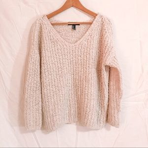Cream Popcorn Pullover Sweater